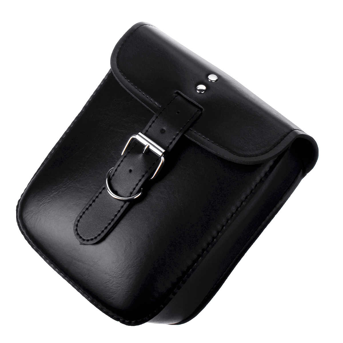 Universal Negro PU cuero motocicleta impermeable viaje herramienta bolsas maleta alforjas de equipaje para Honda/Kawaki/Suzuki