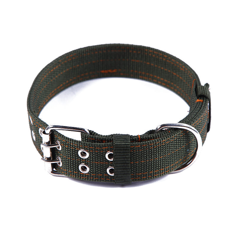 Army Green Double Breasted Pet Neckband Dog Collar Small Dogs Pet Supplies Dog Neck Ring Small