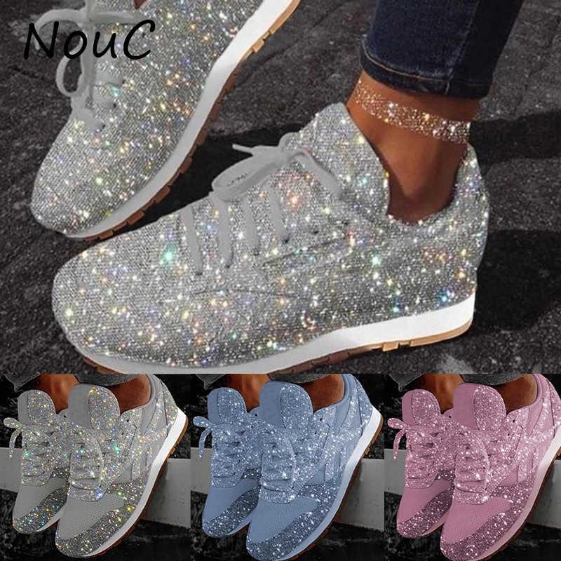 2020 Women Glitter Shoes Flat Ladies