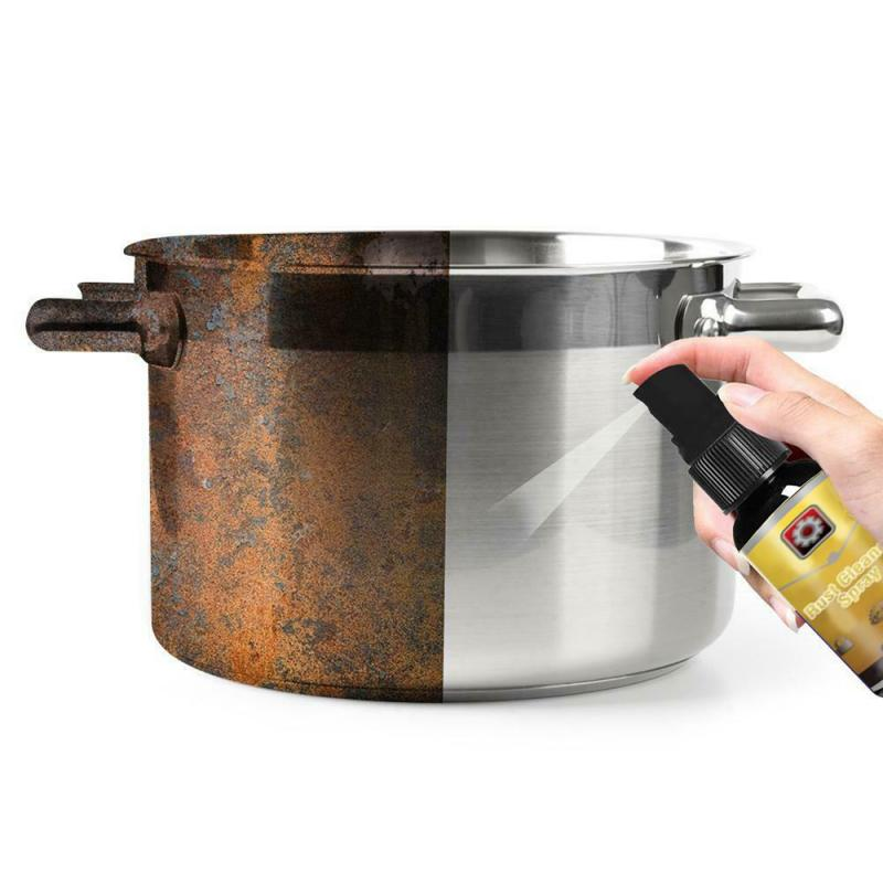 30ML Multi-Purpose Rust Cleaner Safe Non-toxic Metal Derusting Spray Car Maintenance Cleaning Cookware Household Tools Cleaning