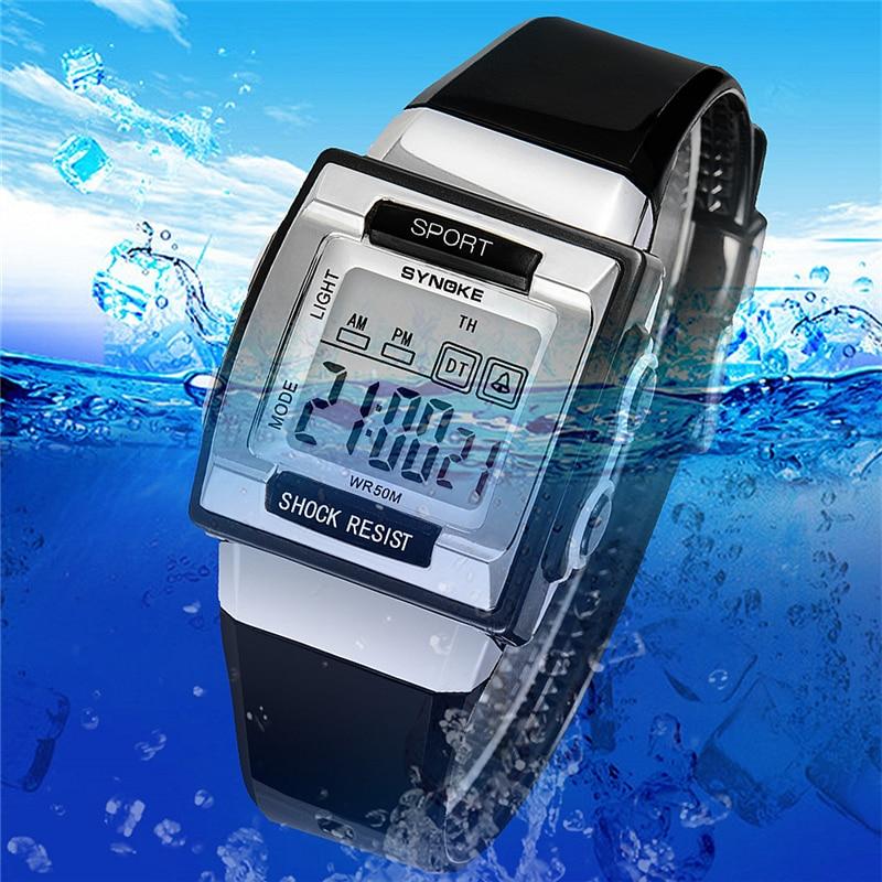 Swim 50m Waterproof Watch Led Children's Watch Llluminate Kids Wrist Watches Fashion Boy Girl Watch School Studen Clock Kid Date