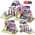 484 шт. городские строительные блоки  совместимые с друзьями  девочки  принцесса  бассейн  вечерние кирпичи для девочек  детские игрушки