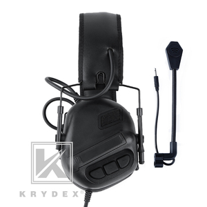 Image 4 - KRYDEX Tactical Headset With Micphone Peltor Black Noise Reduction Sound Pick Up Communication Electronic Detachable Headphone