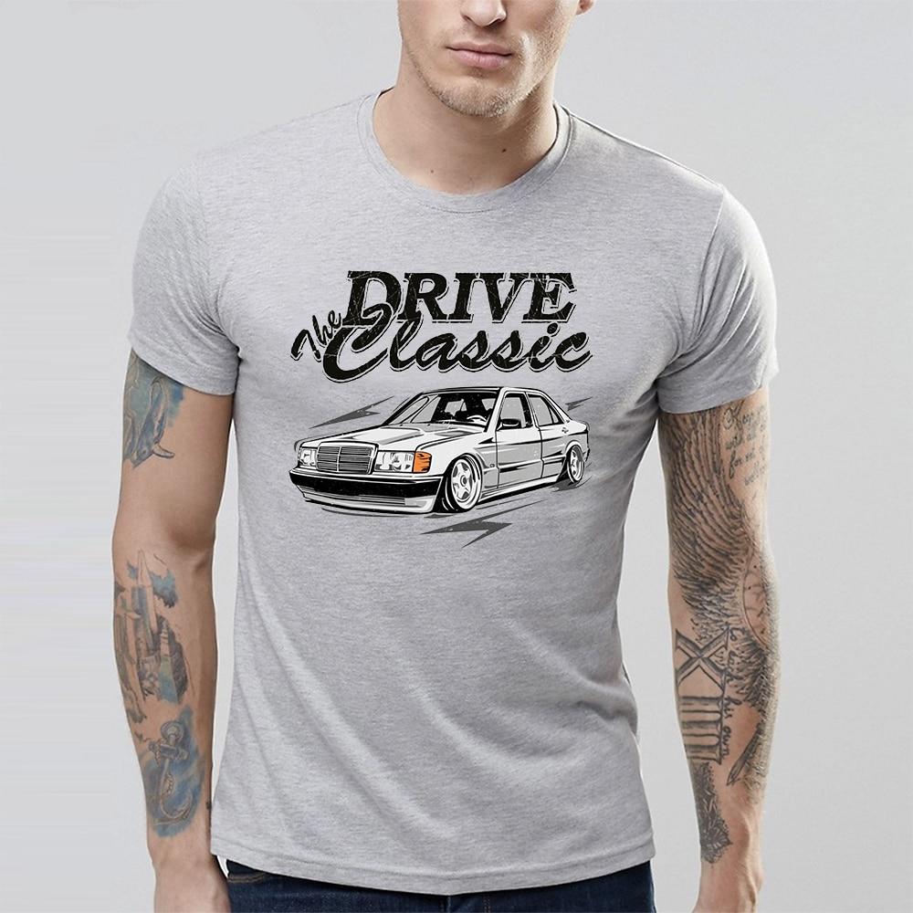 For Man New T Shirt S-6XL Drive Classic Car W201  t shirt Top design Arrival Fashionable Summer