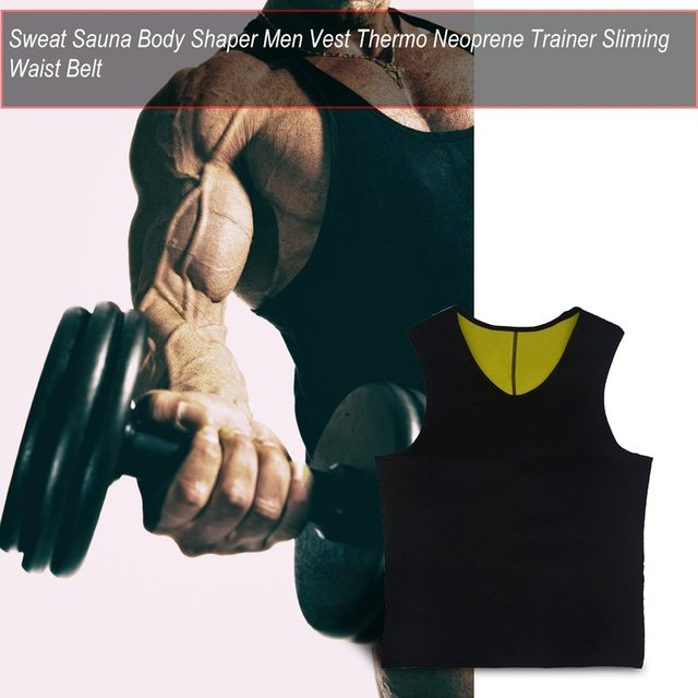 Sweat Sauna Body Shaper Men Slimming Vest Thermo Neoprene Trainer Sliming Waist Belt Durable And Comfortable Weight Loss Vest 2