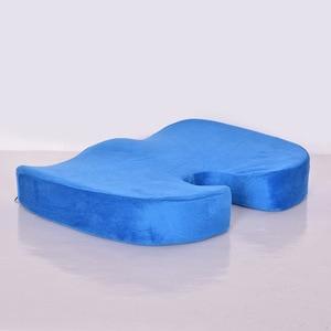 Ортопедическая подушка на сиденье из пены с эффектом памяти для путешествий, Подушка для стула, подушка для автомобиля, офиса, бедер, копчик...