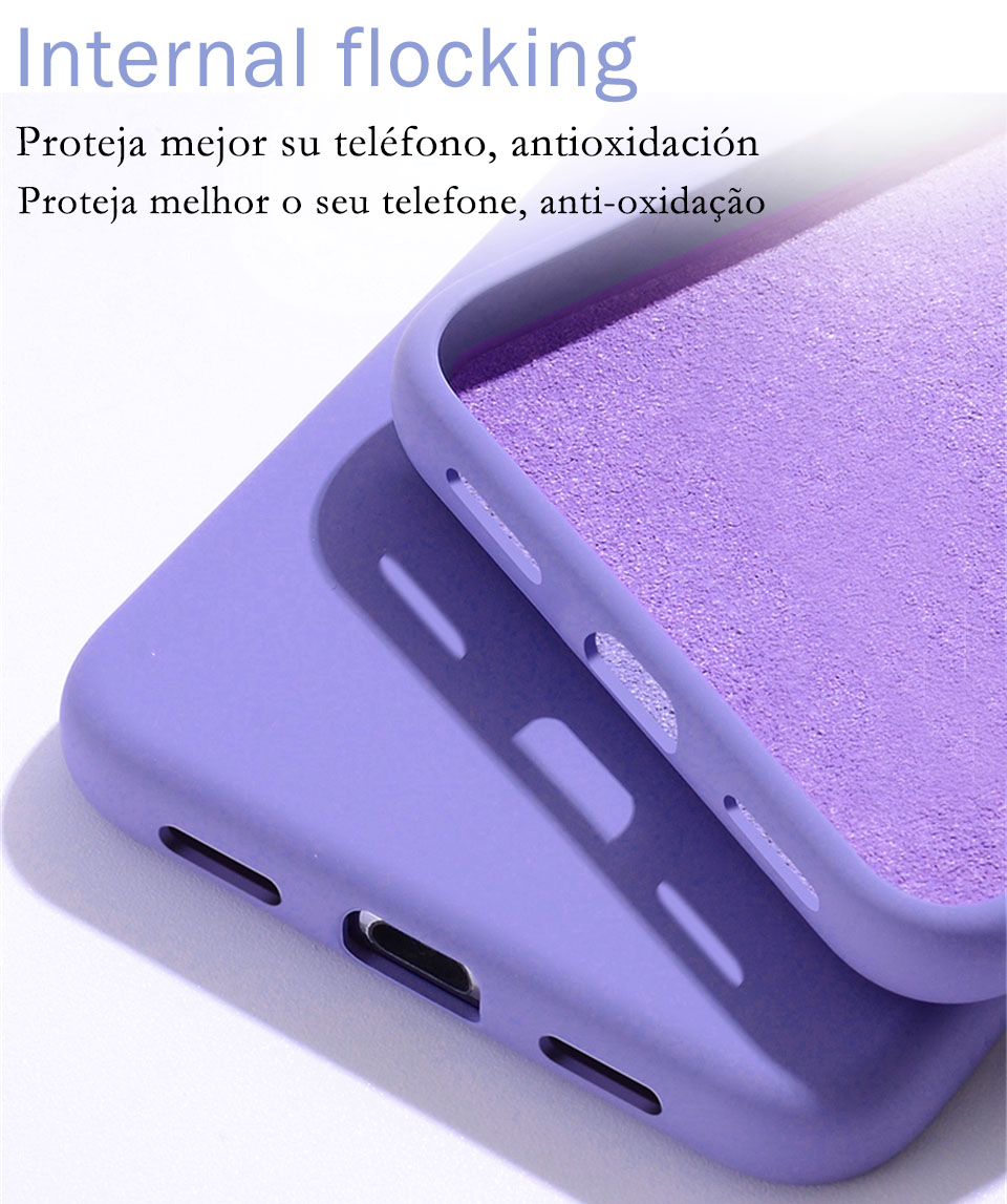 Luxury Liquid Silicone Bumper Phone Case For iPhone 11 Pro X XS Max 9