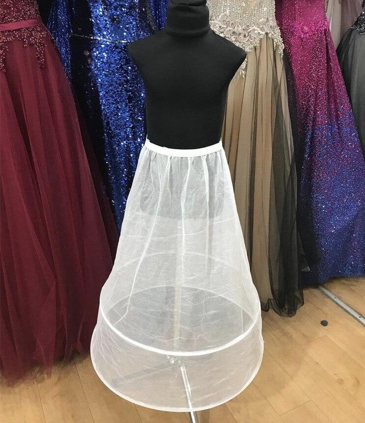 Women's 2 Hoops Petticoat A-Line Ankle-Length Full Slips Bridal Underskirt Elastic Empire Waist Wedding Prom Dress Crinoline NEW
