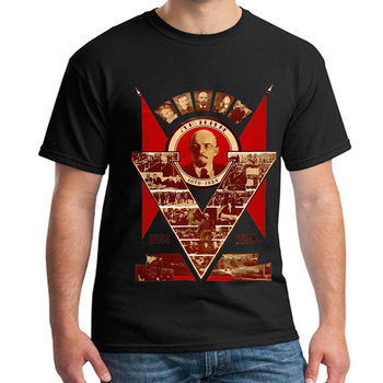 CCCP USSR Soviet Union Lenin T-Shirt Moscow Russia Men's Short Sleeve T Shirt Poster Printing Cotton O Neck Tops Tee Size S-3XL недорого