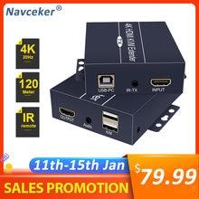 2020 120 м 4k сеть hdmi удлинитель с ИК 1080p приемник передатчика