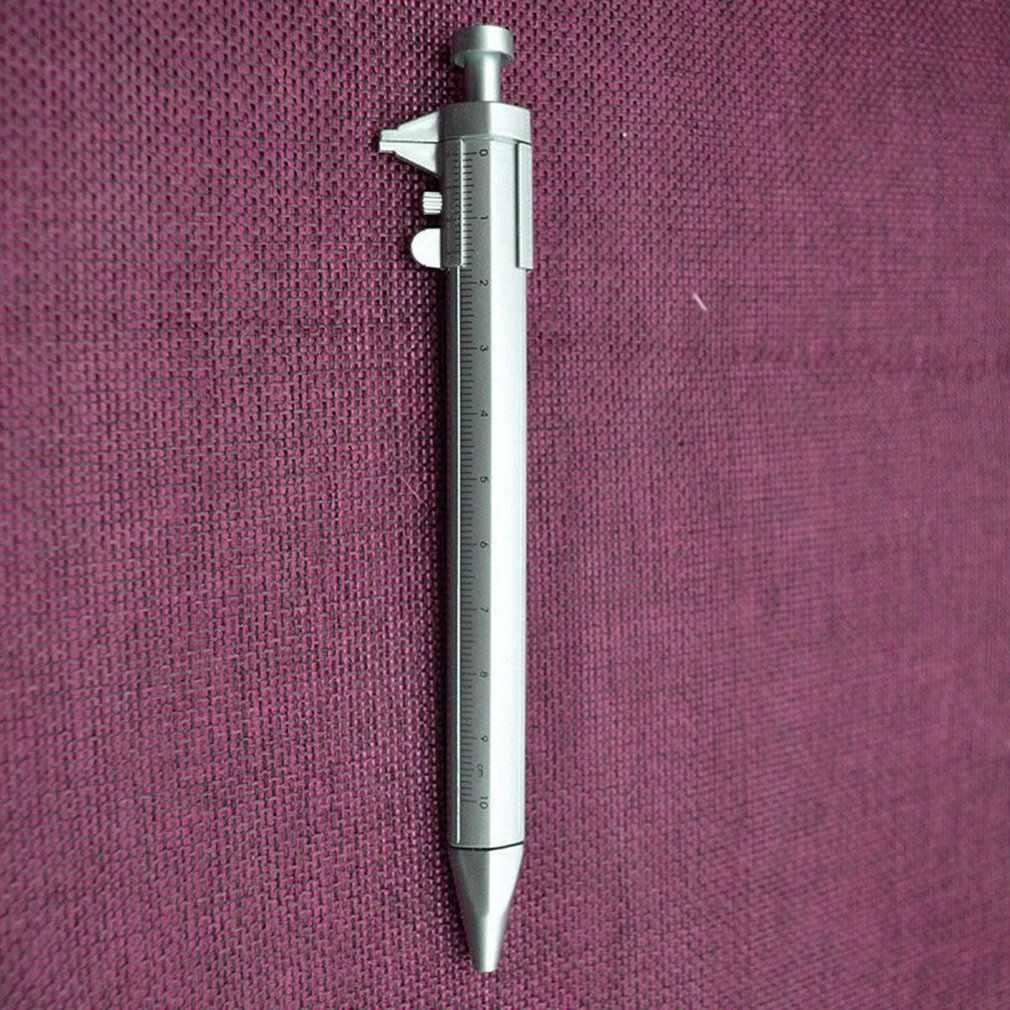 Wielofunkcyjny długopis z żelowym wkładem noniusz suwmiarka długopis 2 kolory studenci pióro kulkowe biurowe Drop shipping