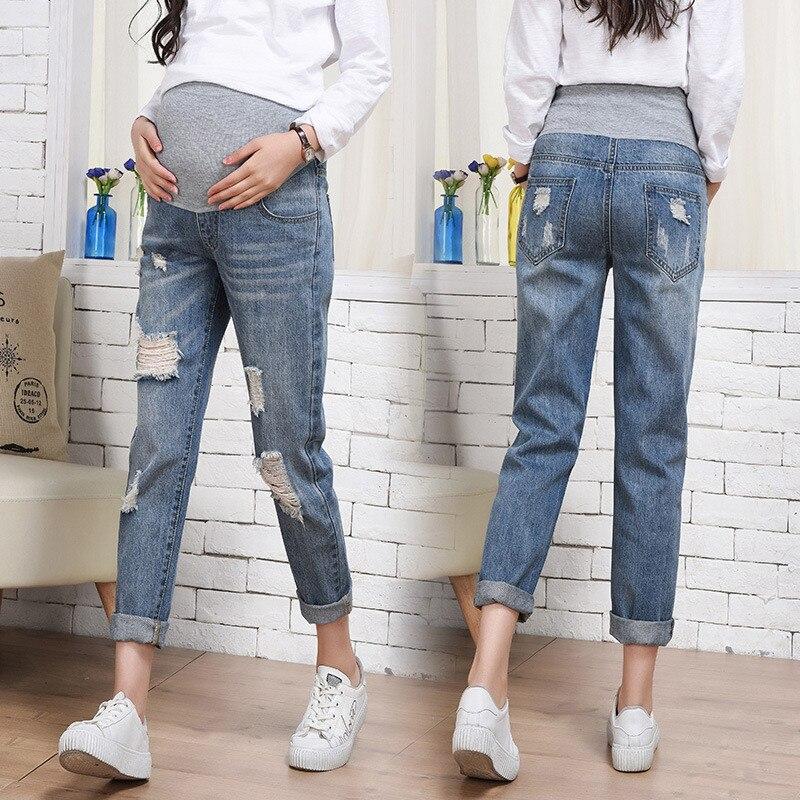 Autumn Winter Maternity Pants Pregnant Women Clothes Adjustable Pregnancy Jeans Pants Elastic Soft Denim Belly Jeans Trousers Pants Capris Aliexpress