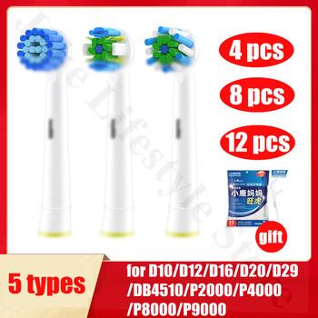 Wymienne końcówki do szczoteczki do OralB 3D wybielanie szczoteczki do zębów głowice Braun elektryczne głowice do szczoteczek do zębów do jamy ustnej tanie i dobre opinie Boorui CN (pochodzenie) Z tworzywa sztucznego Szczoteczki do zębów głowy 4 8 12 Dorosłych 4 pcs for 1 box Floss Toothbrush holder