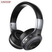 UNITOP-auriculares inalámbricos ZEALOT B19 con Bluetooth, dispositivo de audio estéreo, para música, compatible con tarjeta SD y micrófono, para Xiaomi Sumsamg