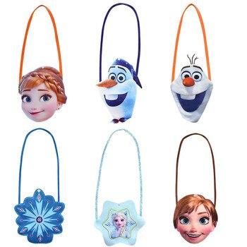 Snow Queen Cartoon Bag Girls Anna Elsa Princess Shoulder Bag Diagonal Small Bag Unicorn Coin Purse Button Bag