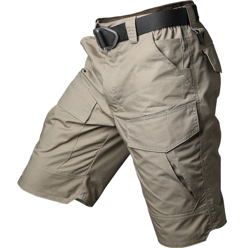 Летние Шорты-карго, тактические водонепроницаемые походные шорты Rip-stop, мужские уличные шорты в стиле милитари с несколькими карманами для ...