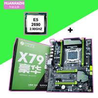 HUANAN ZHI X79 carte mère bundle avec double M.2 NVMe fentes SSD remise carte mère avec CPU Xeon E5 2690 C2 2 ans de garantie