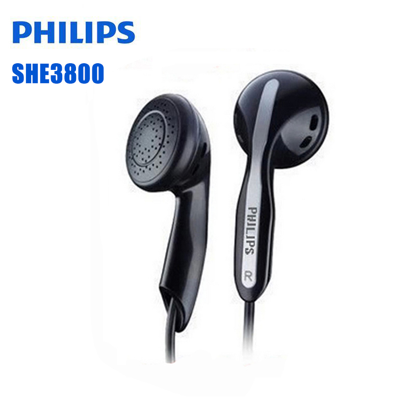 Philips SHE3800 Stereo Bass Earphones Mp3  Earphones For A Mobile Phone Xiao Mi And For HUAWEI  Iphone X No Micphone Original