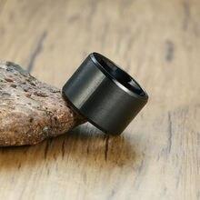 Vnox 15 мм массивный мужской браслет из черной нержавеющей стали