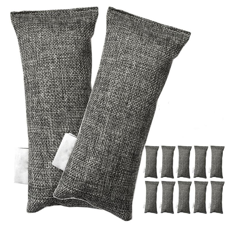 Best 12 Packs Each Mini Bamboo Charcoal Bags Natural Air Purifier, Shoe Deodorizer And Odor Eliminator (Pack Of 12 Bags)