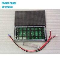 Al aire libre pantalla LED 20 piezas P5 al aire libre para 320*160mm 64*32pixel Matrix 4pcs 5v60A fuente de alimentación 7pcs recibir tarjeta TB2 controlador