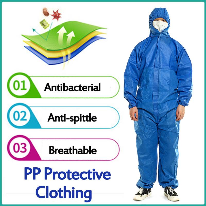 Waterproof One Time Disposable PP Oil-Resistant Protective Coverall For Spary Painting Decorating Clothes Overall Suit Workwear