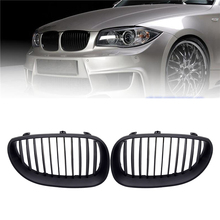 цена на 1 Pair Car Grill Racing Grille Matte Gloss For BMW 5 Series E60 E61 M5 2004-2009 520d 525 Car Styling Front Grille Kidney Grille