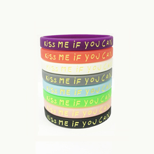 Popular street fashion smiley kiss me if you can male and female couple silicone bracelet wristband custom jewelry