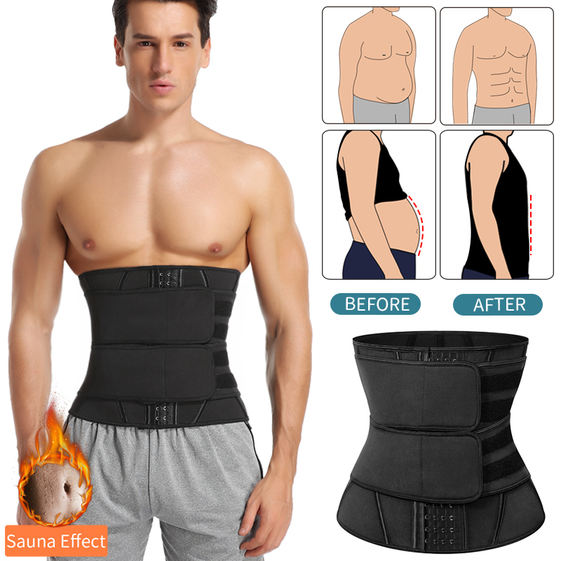 Men Waist Trainer Abdomen Slimming Body Shaper Belly Shapers Weight Loss Shapewear Tummy Slim Modeling Belt Girdle Sweat Trimmer
