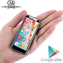 Destek Google Play 3.4 inç küçük mini 4G akıllı telefon Android 8.1 parmak izi çift SIM dört çekirdekli kilidini cep telefonu Melrose 2019