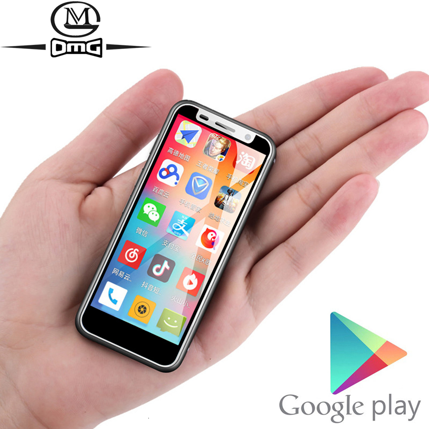 Support Google Play 3.4 Inch Small Mini 4G Smartphone Android 8.1 Fingerprint Dual SIM Quad Core Unlock Cellphone Melrose 2019