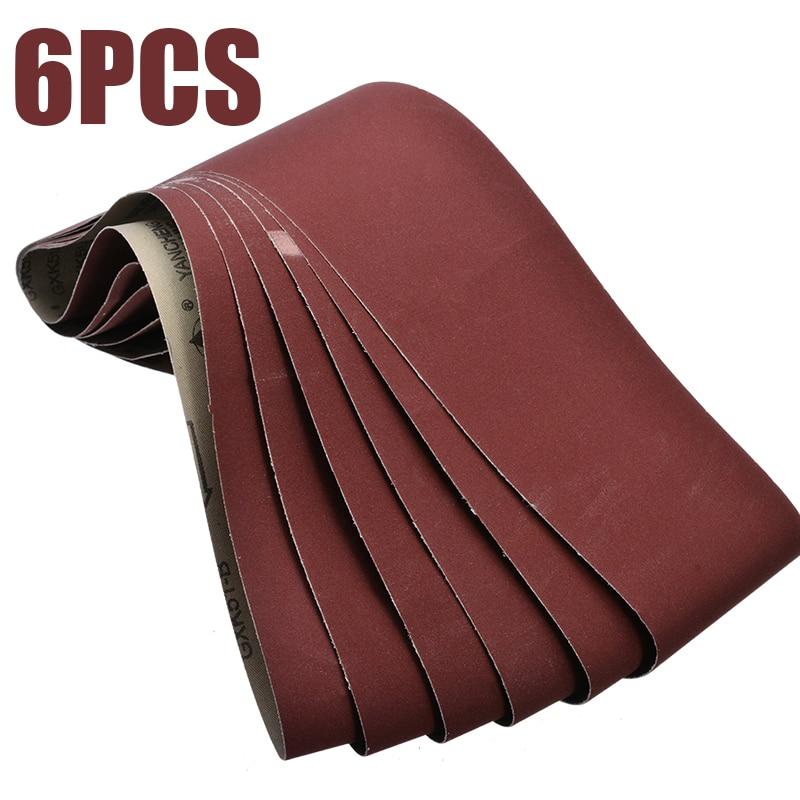 6Pcs 915x100mm Sanding Belts Abrasive Sanding Belt 400 Grit For  Belt Sander Tools Wood Soft Metal Grinding Polishing