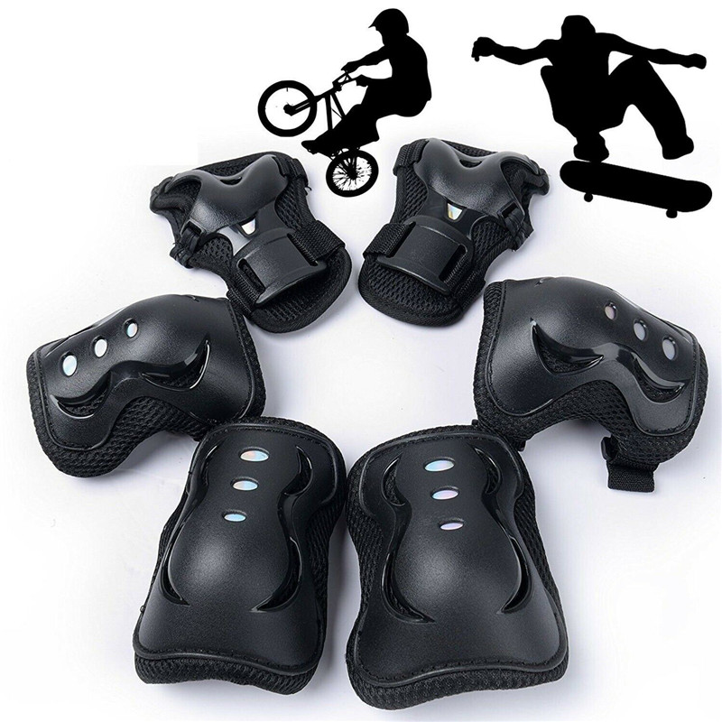 6X Skating Protective Gear Sets Elbow Knee Pad Fashion Bike Skateboard Adult Kid