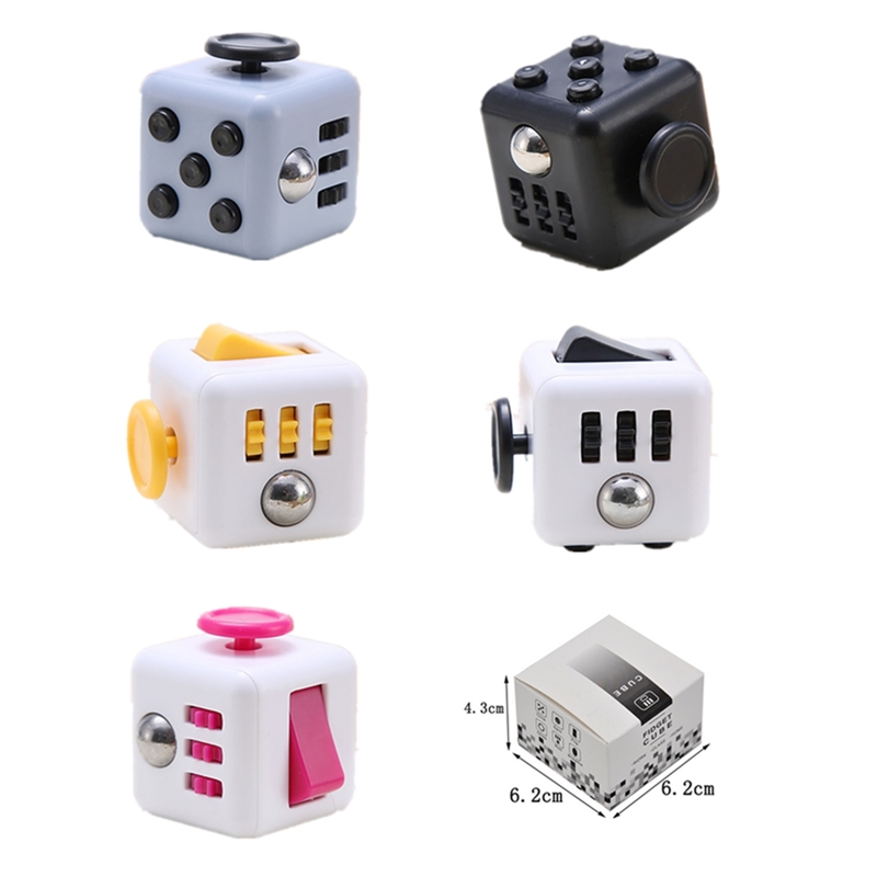 Autism Autismo Toys Anti Stress Cubes Magic Cubes Autismo Squeeze Fun Stress Reliever Puzzle Desk Finger Toy For Boys And Girls