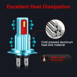 Image 2 - 1 adet H7 Led ampul süper parlak CSP cips 1800LM otomatik araba sis sürüş işık lamba ampulü araba sis sürüş işık lamba ampulü 12V 6000K