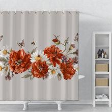 Занавеска для душа с s образным принтом бабочки ванной комнаты