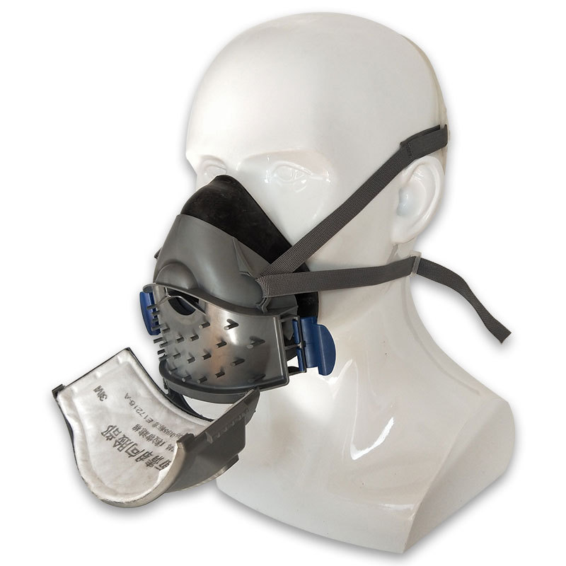 Пылезащитная полумаска, пылезащитный респиратор Bg16, пылезащитный респиратор, фильтр для твердых частиц, хлопковый усиленный фильтр