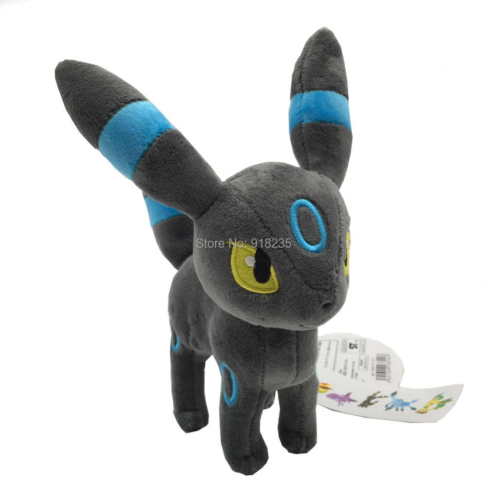 מבריק Umbreon Sylveon Umbreon Flareon Vaporeon Jolteon איוי Espeon Leafeon Glaceon 13-23 CM בפלאש בובה ממולא צעצוע הקמעונאי