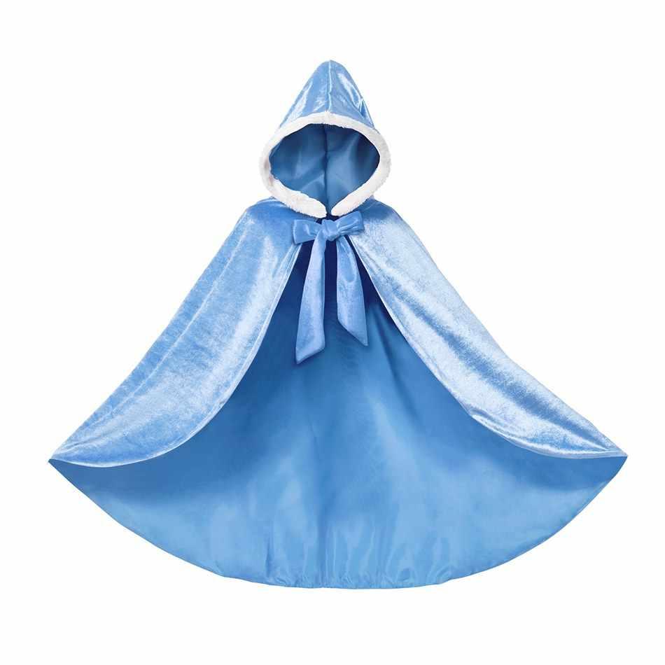 MUABABY kız prenses elbise aksesuarları saç örgü çocuk uzun pelerin yasemin Elsa peruk örgü Mal Evie peruk sihirli saç