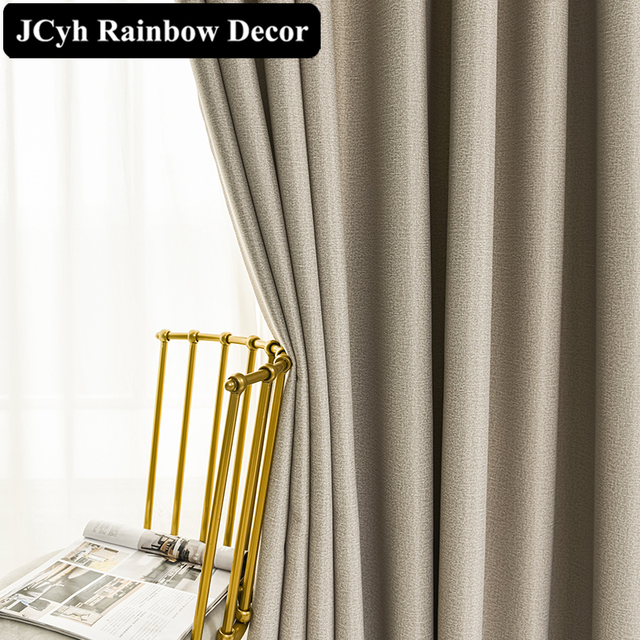 Modern Thick Solid Blackout Curtains 2