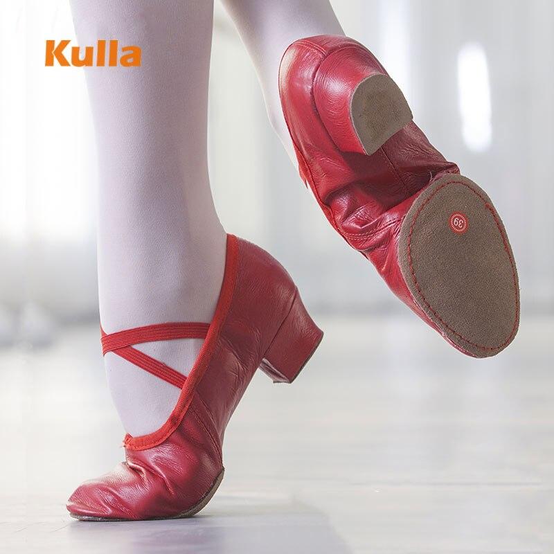 High Quality Canvas Leather Jazz Dance Shoes Soft Pointe Ballet Salsa Dancing Shoes Sneakers 8Colors Women'S Ballroom Dance Shoe