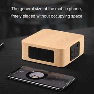 Image 2 - Bluetooth עץ בס רמקול מיני אלחוטי סאב נייד בס טור עבור טלפון נייד