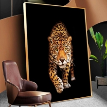 Wild Leopard Canvas Paintings on The Wall Feral Animals Posters and Prints Wall Art Cuadros Pictures for Home Living Room Decor african large lions face canvas paintings on the wall art posters and prints animals lions art pictures for living room cuadros