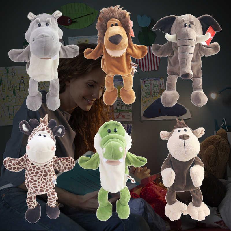 Enfants Animal main marionnette jouet dessin animé mignon en peluche éléphant tortue girafe marionnette jouet main poupée conte éducation jouet cadeaux