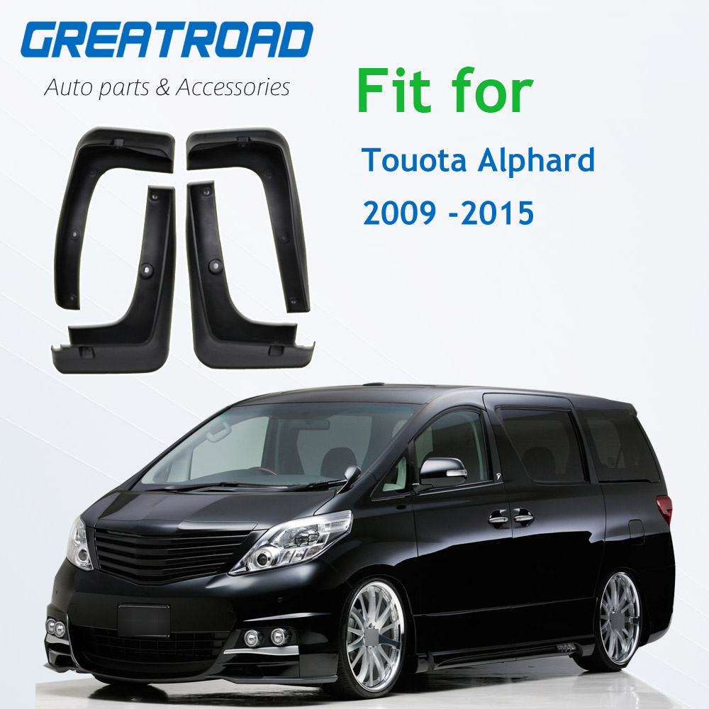 FIT FOR TOYOTA ALPHARD 2009 2010 2011 2012 2013 2014 2015 MUDFLAPS MUD FLAPS FLAP SPLASH GUARD MUDGUARDS FRONT REAR ACCESSORIES