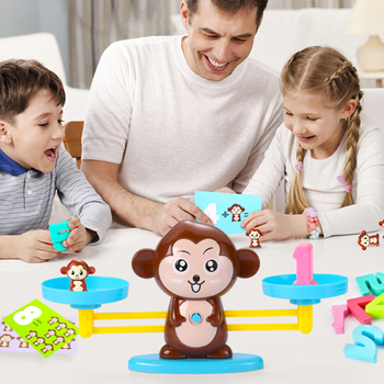 Monkey Balance Match Toys Game Board Toys Monkey Match Balance Scale Number Balance Game Kids Toys Educational Toys For Child shark bite game funny toys desktop fishing toys kids family interactive toys board game