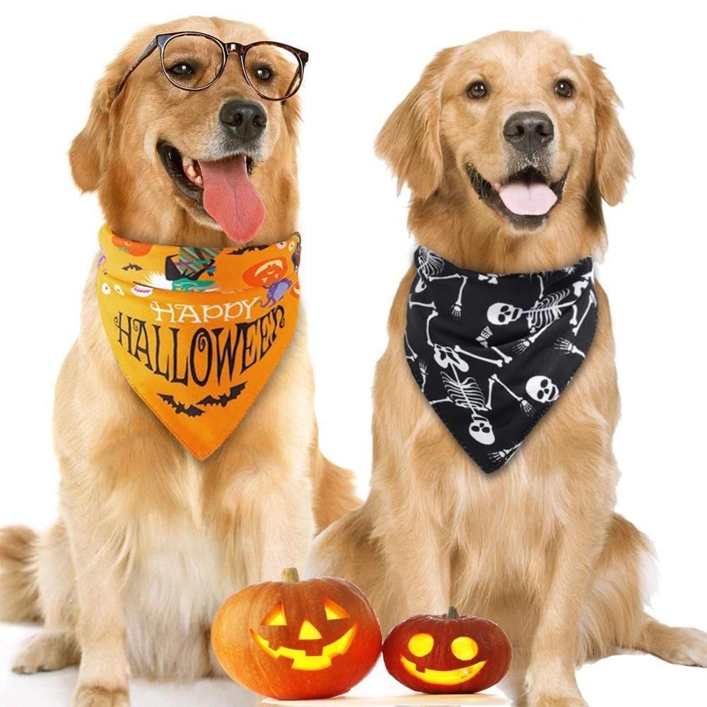 Moyyo Pirate Skulls Black Dog Bandana Collar Adjustable Pet Triangle Scarf Dog Neckerchief/Washable Bib Towel for Small Medium Large Dog Puppy Cat Pet Costume