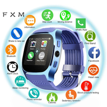 цена на FXM 2020 Bluetooth Digital Wristwatches Touch Screen Smart Watch Men With Camera Bluetooth Men's Watches For Android IOS Phone