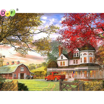 5D manor round/square Cross Stitch DIY Diamond Painting Diamond Embroidery kits Diamond Mosaic home Decorative drill image