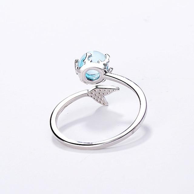 Handmade Mermaid 925 Sterling Silver Ring 5
